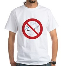 "Clean Living T-Shirt, White: ""No Drugs"""