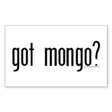 Mongo Sticker (Rectangular): got mongo?