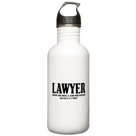 Funny Lawyer Stainless Water Bottle 1.0L