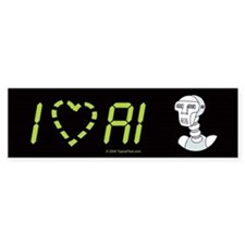 I [heart] AI Bumper Sticker