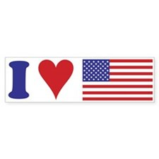 I Love the USA Bumper Bumper Sticker