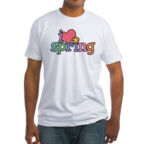 I Love Spring Fitted T-Shirt