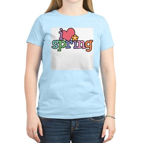 I Love Spring Women's Pink T-Shirt