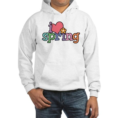 I Love Spring Hooded Sweatshirt