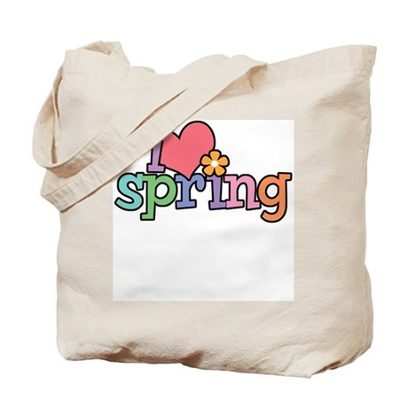 I Love Spring Tote Bag
