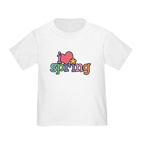 I Love Spring Toddler T-Shirt