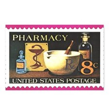 Pharmacy Stamp Postcards (Package of 8)