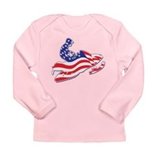 Patriotic Snowmobilers Long Sleeve Infant T-Shirt