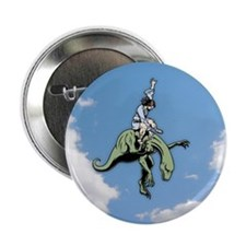 "Raptor Rodeo Jesus 2.25"" Button (10 pack)"