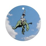 Raptor Rodeo Jesus Ornament (Round)