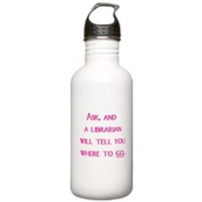 UPDATED: Ask, and a librarian Water Bottle