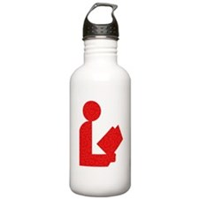 Library Love Logo Water Bottle