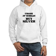 Crash JP MORGAN Buy Silver Hoodie
