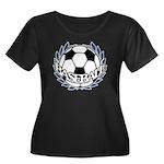Baseball Women's Plus Size Scoop Neck Dark T-Shirt