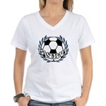 Baseball Women's V-Neck T-Shirt