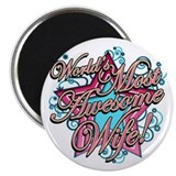 The Worlds Most Awesome Wife 2.25&quot; Magnet (100 pac