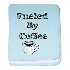Vintage Fueled By Coffee baby blanket