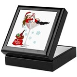 Santa Girl Martini Keepsake Box