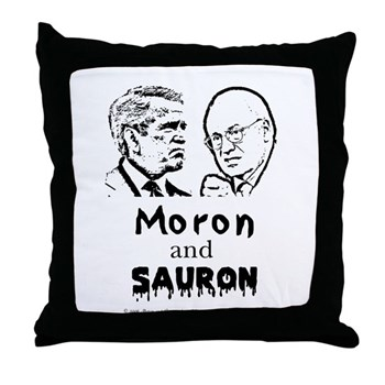 Moron and Sauron Throw Pillow
