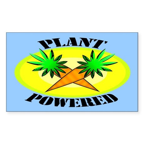 Plant Powered Rectangle Sticker