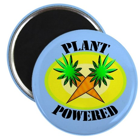 "Plant Powered 2.25"" Magnet (100 pack)"