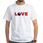 Billiard Love 3 White T-Shirt