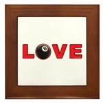 Billiard Love 3 Framed Tile