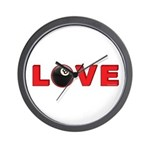 Billiard Love 3 Wall Clock