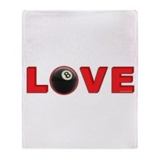 Billiard Love 3 Throw Blanket