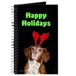 Brittany Spaniel Holiday Christmas Journal
