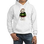White Teddy Bear Hooded Sweatshirt