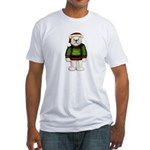 White Teddy Bear Fitted T-Shirt