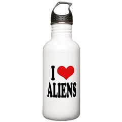 I Love Aliens (word) Stainless Water Bottle 1.0L