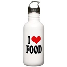 I Love Food Water Bottle