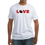 Hockey Love 3 Fitted T-Shirt