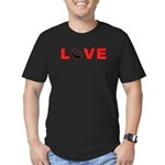 Hockey Love 3 Men's Fitted T-Shirt (dark)