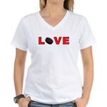 Hockey Love 3 Women's V-Neck T-Shirt