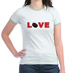 Hockey Love 3 Jr. Ringer T-Shirt