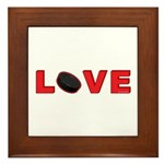Hockey Love 3 Framed Tile