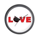Hockey Love 3 Wall Clock