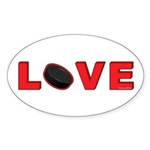 Hockey Love 3 Sticker (Oval 50 pk)
