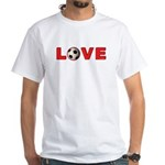 Soccer Love 4 White T-Shirt