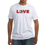 Soccer Love 4 Fitted T-Shirt