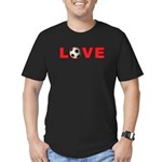Soccer Love 4 Men's Fitted T-Shirt (dark)