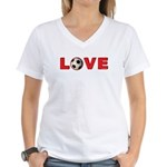 Soccer Love 4 Women's V-Neck T-Shirt