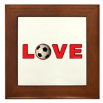 Soccer Love 4 Framed Tile