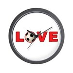 Soccer Love 4 Wall Clock
