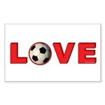 Soccer Love 4 Sticker (Rectangle 10 pk)