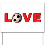 Soccer Love 4 Yard Sign