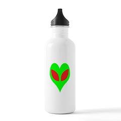Alien Heart Water Bottle